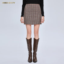 skirt Winter of 2019 XS S M L Brown H42 Short skirt commute High waist Pencil skirt houndstooth  Type H 30-34 years old 694KJ4300000 51% (inclusive) - 70% (inclusive) Miss sixty wool lady Wool 59.3% polyamide fiber (nylon) 32.7% alpaca hair 1.1% rabbit hair 0.6% others 6.3%