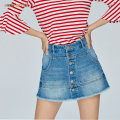 Jeans Summer of 2019 Medium blue f37 23 24 25 26 27 28 29 30 shorts High waist Wide legged trousers routine 25-29 years old Worn and washed button scratch Cotton denim light colour 692JJ8120000 Miss sixty 96% and above Cotton 100% Same model in shopping mall (sold online and offline)