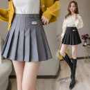 skirt Autumn of 2019 S M L XL Black grey Short skirt Versatile High waist Pleated skirt Solid color Type A 18-24 years old LFS541 More than 95% other Rivenza other zipper Other 100% Pure e-commerce (online only)