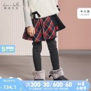 trousers davebellakids female 110/5Y 120/6Y 130/7Y 140/9Y 150/11Y 160/13Y SCOTTISH PLAID spring and autumn trousers Europe and America There are models in the real shooting Casual pants Leather belt middle-waisted other Don't open the crotch Other 100% DBK11154 Autumn of 2019