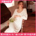 Nightdress crystal clear white 155(S) 160(M) 165(L) 170(XL) Sweet Long sleeves pajamas longuette winter Solid color youth square neck cotton lace 81% (inclusive) - 95% (inclusive) Knitted cotton fabric CC-499 Spring 2021 Cotton 94% polyurethane elastic fiber (spandex) 6%
