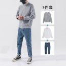 T-shirt / sweater Youth fashion M L XL 2XL 3XL routine Socket Crew neck Long sleeves winter easy 2019 leisure time tide youth routine Solid color Autumn of 2019 No iron treatment Coarse wool (8, 6) other Pure e-commerce (online only)