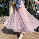 skirt Autumn of 2019 M L XL Mid length dress commute High waist A-line skirt Solid color Type A 18-24 years old ZDX7001 More than 95% other Zhuo Daisy polyester fiber Gauze Korean version Polyester 100% Pure e-commerce (online only) 201g / m ^ 2 (including) - 250G / m ^ 2 (including)