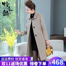 Middle aged and old women's wear Winter 2020 Blue Red Black Brown commute woolen coat easy singleton  Solid color 40-49 years old Cardigan moderate