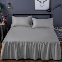 Bed skirt Single piece of pure cotton bed skirt is 120x200cm, single piece of pure cotton bed skirt is 150x200cm, single piece of pure cotton bed skirt is 180x200cm, single piece of pure cotton bed skirt is 180x220cm, single piece of pure cotton bed skirt is 200x220cm cotton Other / other Solid color