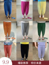 trousers Tagkita / she and others neutral 90CM,100CM,110CM,120CM,130CM CCM [white], CCM [purple], CCM [orange], CCM [rose red], CCM [black], CCM [color blue], CCM [fruit green], CCM [yellow], CCM [gray] summer trousers Korean version There are models in the real shooting Leggings Leather belt cotton