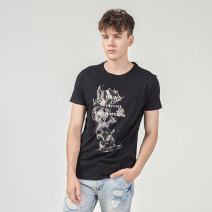 T-shirt Youth fashion White black routine S M L XL XXXL XXL HELLEN&WOODY Short sleeve Crew neck Self cultivation daily summer HW13271704 Cotton 100% youth routine tide Cotton wool Summer 2020 Animal design printing cotton Animal design More than 95%