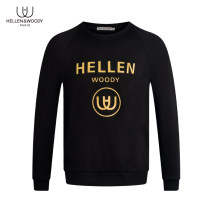 Sweater Youth fashion HELLEN&WOODY black 46 48 50 52 54 56 58 Geometric pattern Socket routine Crew neck autumn Straight cylinder leisure time youth tide routine Cotton 94% polyurethane elastic fiber (spandex) 6% cotton printing Autumn 2020 90% (inclusive) - 95% (inclusive) simple style