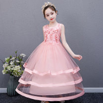 Dress female Raffinose Other 100% summer princess Skirt / vest Solid color cotton Pleats Class B Spring 2021 3 years old, 4 years old, 5 years old, 6 years old, 7 years old, 8 years old, 9 years old, 10 years old, 11 years old, 13 years old, 14 years old