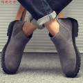 Boots 38 39 40 41 42 43 44 The power of Ma Tian Middle cylinder cowhide Black single shoe grey single shoe yellow single Shoe Black Plush grey Plush Yellow Plush Sleeve Two layer pigskin Two layer pigskin Cattle hide (except cattle suede) Chelsea boots Round head rubber waterproof spring and autumn