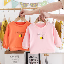 T-shirt Orange pink yellow Guoli Castle 66cm 73cm 80cm 90cm 100cm 110cm female spring and autumn Long sleeves Crew neck leisure time No model nothing cotton other Cotton 96.2% polyurethane elastic fiber (spandex) 3.8% XX20A052 Class A other Spring 2020 Chinese Mainland Zhejiang Province Huzhou City