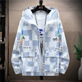 Plain coat Benelux male M L XL 2XL 3XL White grey white blue summer leisure time Zipper shirt No model Thin money No detachable cap other other Hood 2021-0331-3 Polyamide fiber (nylon) 100% Summer 2021
