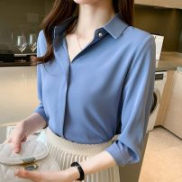 Women's large Spring 2021 White yellow pink light blue L XL S M 2XL 3XL commute Socket Long sleeves Korean version NDHSUW2659 Yundoni Other 100% Pure e-commerce (online only)