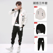 Jacket Youth fashion M L XL 2XL 3XL routine standard Other leisure autumn Cotton 100% Long sleeves Wear out Lapel tide youth routine Single breasted Straight hem No iron treatment Closing sleeve Solid color Autumn of 2019 Zipper decoration Cover patch bag Pure e-commerce (online only) cotton