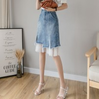 skirt Summer 2020 S M L XL 2XL blue Middle-skirt Versatile High waist A-line skirt Type A 18-24 years old Y-8301 More than 95% Yasuen other Other 100% Pure e-commerce (online only)