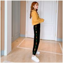 Dress Autumn of 2019 Yellow without velvet, red without velvet, dark blue without velvet S,M,L,XL 18-24 years old Other / other qWWY56891 other