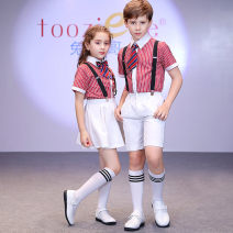 Children's performance clothes neutral Tooziege Class B TC3004(TK002) Polyester 80% viscose 20% 2 years old, 3 years old, 4 years old, 5 years old, 6 years old, 7 years old, 8 years old, 9 years old, 10 years old, 12 years old, 13 years old, 14 years old Spring 2021 college