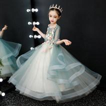 Children's dress female 100cm 110cm 120cm 130cm 140cm 150cm 160cm full dress Class B other Polyester 100% Autumn 2020 4 years old, 5 years old, 6 years old, 7 years old, 8 years old, 9 years old, 10 years old, 11 years old, 12 years old, 13 years old, 14 years old princess