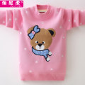 Sweater / sweater 110cm 120cm 130cm 140cm 150cm 160cm 170cm Pure cotton (100% cotton content) female leisure time No model Socket thickening Crew neck nothing Ordinary wool Cartoon animation Cotton 100% XXX Class B Long sleeves Summer of 2019 winter Chinese Mainland