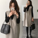 Women's large Autumn 2020 Picture color L [100-120 Jin] XL [120-140 Jin] 2XL [140-160 Jin] 3XL [160-180 Jin] 4XL [180-200 Jin] Dress Two piece set commute moderate Socket Long sleeves Solid color Korean version Crew neck Medium length routine a329 Yidu Medium length Other 100%