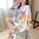 Women's large Summer 2020 M (suitable for 80-110 kg) l (suitable for 111-140 kg) XL (suitable for 141-170 kg) XXL (suitable for 171-200 kg) singleton  commute easy Shape letter Korean version Crew neck Medium length Polyester cotton routine Iluoyu 25-29 years old Pure e-commerce (online only)