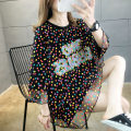 Women's large Summer 2020 M (suitable for 80-100 kg) l (suitable for 101-120 kg) XL (suitable for 121-140 kg) XXL (suitable for 141-170 kg) T-shirt Fake two pieces commute easy Socket Short sleeve Shape letter Korean version Crew neck Medium length polyester fiber routine Iluoyu 25-29 years old