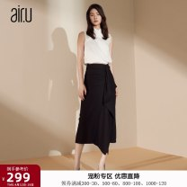 skirt Autumn 2020 34/S 36/M 38/L 40/XL Skirt shirt sweater Mid length dress commute High waist Ruffle Skirt Solid color Type X 30-34 years old B193B304 More than 95% Chiffon Air. U / AI Ru polyester fiber lady Polyester 100% Pure e-commerce (online only)