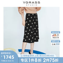 skirt Spring 2020 38/XS 40/S 42/M 44/L black Mid length dress commute Natural waist A-line skirt other Type A 30-34 years old SSBQL11764 More than 95% v·grass other lady Other 100% Same model in shopping mall (sold online and offline)