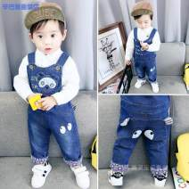 trousers Simba monkey neutral 80/66 90/75 100/83 110/92 spring and autumn trousers Korean version No model rompers middle-waisted Denim Open crotch Cotton 95% pan 5% b6ed3ef0-5 Class B 12 months, 6 months, 9 months, 2 years, 3 years