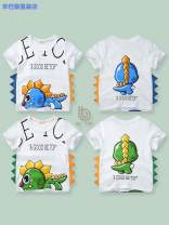 T-shirt Dt8083 blue dinosaur dt8083 green dinosaur Simba monkey 90cm 100cm 110cm 120cm 130cm 140cm neutral summer Short sleeve Crew neck Korean version No model nothing cotton Cartoon animation Cotton 100% dt8083-07eed9ea-6 Class A other