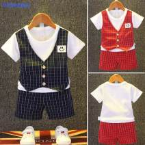 suit Simba monkey 73/65 80/70 90/80 100/88 110/95 120/105 130/115 neutral summer leisure time Short sleeve + pants 2 pieces Thin money Socket other cotton children Expression of love 84a8a575-5 Class A Other 100%
