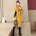 Women's large Autumn of 2019 Yellow black blue S M L XL 2XL 3XL 4XL Sweater / sweater singleton  commute easy thickening Socket Long sleeves Korean version Hood Medium length Three dimensional cutting Y19C8710 Beautiful special zone 25-29 years old Medium length Other 100%