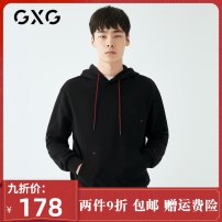 Sweater Youth fashion GXG black 165/S,170/M,175/L,180/XL,185/XXL,190/XXXL other Socket routine Hood spring Straight cylinder go to work youth tide routine Cotton 100% cotton More than 95% Japanese and Korean style
