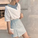 Women's large Summer 2020 Skirt [single piece] shirt [single piece] shirt + skirt [suit] S M L XL Two piece set Crew neck routine other Urnciaxur / an Caixuan 18-24 years old Short skirt Other 100%