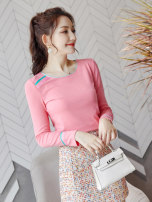 Wool knitwear Autumn of 2019 S M L XL Pink Long sleeves singleton  Socket Lycra Lycra 30% and below Regular routine commute Self cultivation Low crew neck pagoda sleeve Solid color Socket Korean version 25-29 years old Wen Huan Splicing Pure e-commerce (online only)
