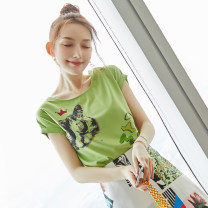 Lace / Chiffon Summer 2020 Picture color S M L XL Short sleeve commute Socket singleton  easy Regular Crew neck other routine 25-29 years old Wen Huan WH7262 lady Polyester 100% Pure e-commerce (online only)