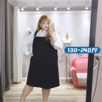 Fashion suit Spring 2021 1XL (130-150kg), 2XL (150-175kg), 3XL (175-200kg), 4XL (200-240kg) black suit  xcY204 96% and above polyester fiber