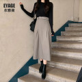 skirt Autumn of 2019 S,M,L,XL Khaki, black longuette Sweet High waist Umbrella skirt Solid color Type A 18-24 years old Other / other rivet