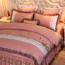 Bedding Set / four piece set / multi piece set Tencel (Lyocell fiber) Quilting Solid color other Other / other cotton 4 pieces other Bedspread type Qualified products 95% (inclusive) - 100% (exclusive) cotton twill Reactive Print  KKXM0031HEX