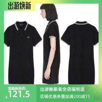 Sports dress m1325 female FRED PERRY Black white collar, white black collar, black red collar Six, eight, ten, twelve, fourteen, sixteen Summer 2020 Short sleeve Socket Moisture absorption and perspiration, anti ultraviolet, quick drying, ultra light, breathable Lapel cotton Tennis Women's tennis