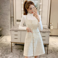 Fashion suit Autumn of 2019 S M L XL Two piece white skirt set [to be delivered after the year] two piece black skirt set [to be delivered after the year] 18-25 years old Cherry and lemon A1991 Other 100% Pure e-commerce (online only)