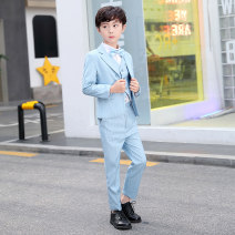 Suit / Blazer 100cm 110cm 120cm 130cm 140cm 150cm 160cm 170cm male There are models in the real shooting Korean version No season stripe Single breasted routine blending Class B Polyester 80% viscose 20% Cotton liner Summer 2020 Four, five, six, seven, eight, nine, ten, eleven, twelve