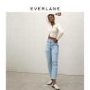 Jeans Spring 2021 Patch Blue / (ankle / ankle) patch Blue / (regular / regular) 23 28 29 30 31 25 24 26 27 32 33 Ninth pants High waist Straight pants Cotton denim 1339_ eight thousand eight hundred and seventy EVERLANE Cotton 100%