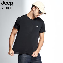 T-shirt Fashion City Dark blue - men's color blue - men's black - men's white - men's color blue - women's black - women's white - women's thin S M L XL 2XL 3XL 4XL 5XL JEEP SPIRIT Short sleeve Crew neck easy Other leisure summer 20MA783TS056 youth routine American leisure other Summer 2020 printing
