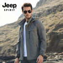 Jacket JEEP SPIRIT Youth fashion 2752 spring and Autumn - iron grey 2752 spring and Autumn - black blue 2752 army spring and Autumn - Green 1509 Plush - dark grey 1509 Plush - black blue 1509 Plush - Army Green M L XL 2XL 3XL routine standard Other leisure Four seasons JK1022752 Long sleeves Wear out