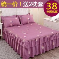 Bed skirt 2 pillowcases for bed skirt 180 * 200cm, 2 pillowcases for bed skirt 200 * 220cm, 2 pillowcases for bed skirt 150 * 200cm, 2 pillowcases for bed skirt 120 * 200cm and 2 pillowcases for bed skirt 180 * 220cm cotton Other / other Plants and flowers First Grade CQ0215587114