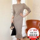 Dress Autumn 2020 Dark grey black camel S M L XL longuette singleton  Long sleeves commute Half high collar middle-waisted Solid color Socket other routine Others 30-34 years old Type H Xiang Rong Yue Simplicity Splicing WY-C2091 More than 95% knitting wool Wool 100% Pure e-commerce (online only)