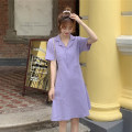 Lace / Chiffon Summer 2020 Red, black, purple S M L XL Short sleeve commute singleton  easy Medium length tailored collar Solid color routine 18-24 years old Hua Sijing Retro Other 100% Pure e-commerce (online only)