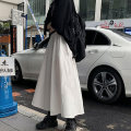 skirt Autumn 2020 S M L XL White black longuette commute High waist A-line skirt Solid color 18-24 years old More than 95% Xiangteng Pavilion other Korean version Other 100% Exclusive payment of tmall