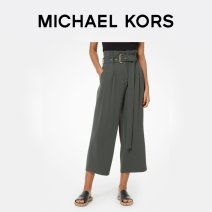 trousers Spring of 2019 XXS XS S M L Ivy Green 345 MS93H3U6BZ345 Michael Kors Polyester 100% Same model in shopping mall (sold online and offline)